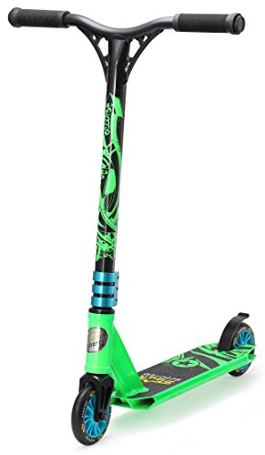 STAR SCOOTER Patinete Patineta Scooter Freestyle Mini Stuntscooter para niños y niñas a Partir de 5 años | 110 mm Edición Mini | Verde