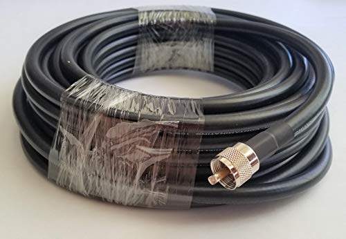 100' of Low Loss Double Shield Coax Cable, RG213U Type, Non-contaminating, with PL259. 213-100