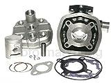 UNTIMERO 50 CCM Zylinder KIT Ringe Kopf KOMPLETT für DERBI GPR 50 Nude bis05 H2O Zylinderkit