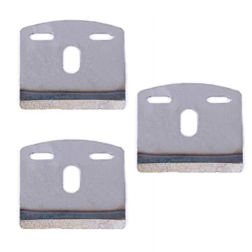 MINGZE 3 piezas Cuchillas, Accesorios de cuchilla para cepilladoras de carpintería, Cepillo de carpintero trabajo Plano de banco Cepilladora manual de madera Accesorios (Hoja de 9 pulgadas y 44 mm)