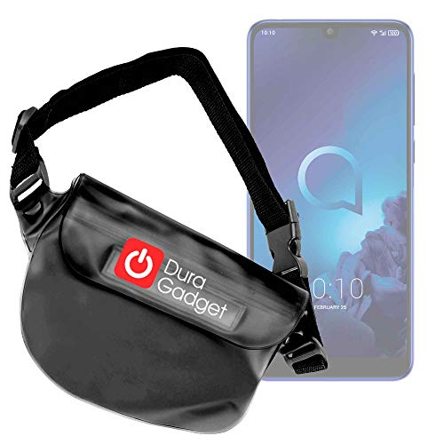 DURAGADGET Riñonera para Smartphone Xiaomi Mi Mix 3 5G, Nokia 9 PureView, Alcatel 3 (2019) - Sumergible
