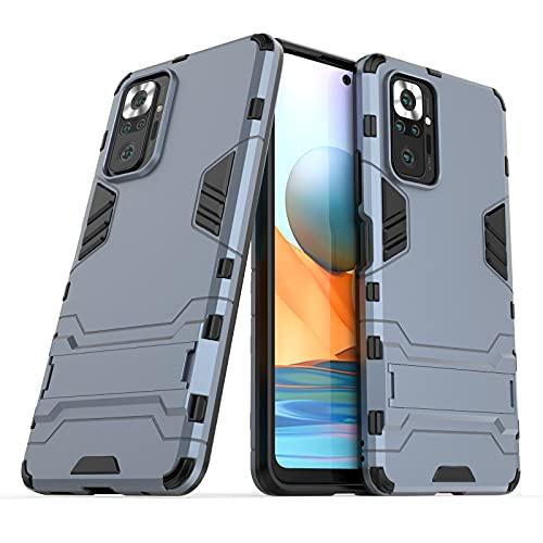 JIAHENG Caja del teléfono Xiaomi Redmi Note10 Pro Stop Holder Funda telefónica, Cubierta Trasera de Soporte ascitado, Cubierta Protectora Cubierta de Cuero (Color : Blue)