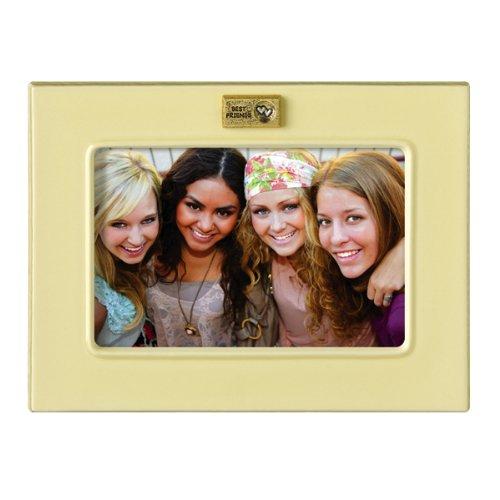 Grasslands Road Everything's Relative Cream Ceramic Glaze Best Friends Frame, Holds a 4 by 6-Inch Photo
