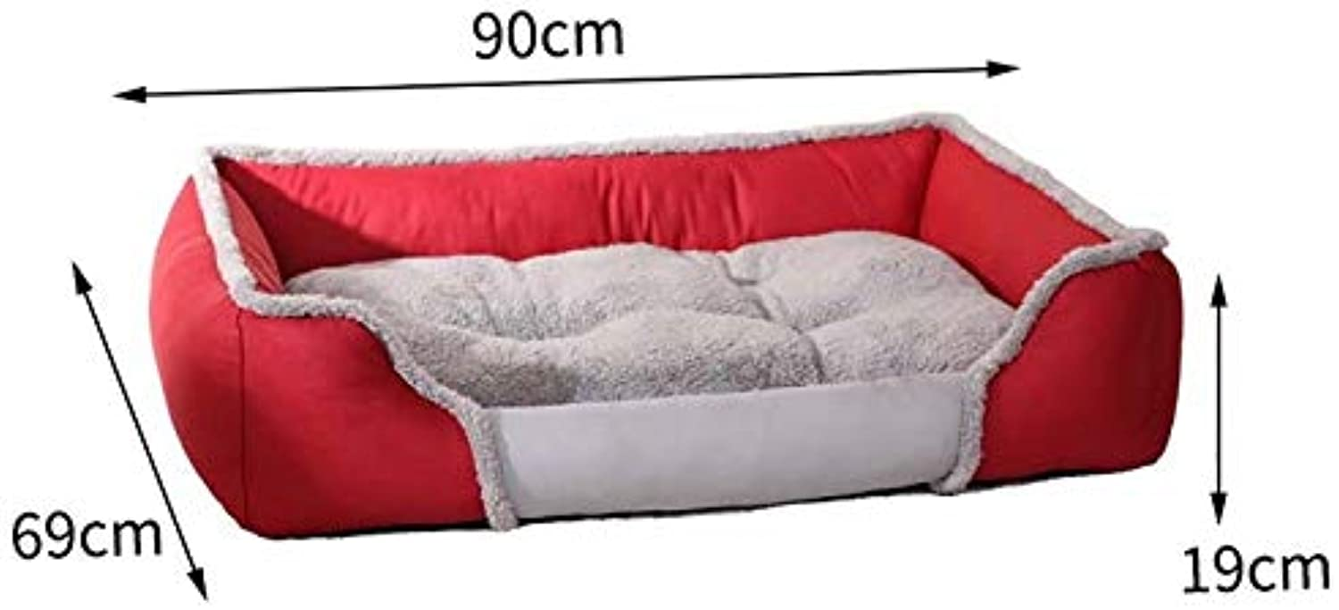 CARBE kennelSquare Dog Bed Soft Bed Sofa Nest Pet Separable Dogs Bed Warm Cotton Dog House Winter Kennel
