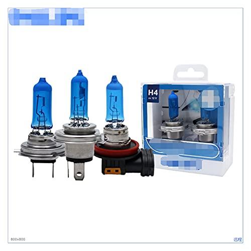SUNYANG Summer Solstice Vision Diamond H1 H4 H7 H8 H11 HB3 HB4 9003 9005 9006 12V 5000K Cabe DE CABETOS Halogen Light LÁMPARAS DE Fog Xenon BOLVES Blanca, Pare (Socket Type : H7)