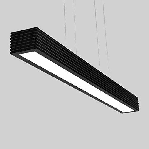 Lewie-lustre LED Restaurant Lumières Simple Moderne Créatif Noir Et Blanc Nordic Aluminium Long Bureau Ruler Study Chandeliers (Couleur : Lumière Blanche)