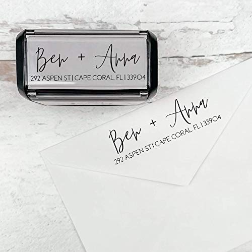 Self Inking Modern Address Stamps | Custom Return Address Stamper (Modern Brush Script)