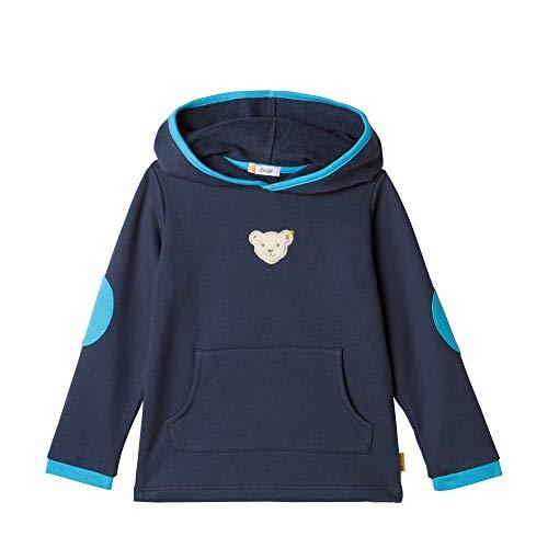 Steiff Baby-Jungen Sweatshirt, Grau (BLACK IRIS 3032), 86 (Herstellergröße:86)