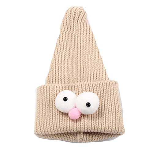Sale!! Cute Insect Children Hand-Knitted Resile Winter Hat Baby Soft Warm Cap,Beige
