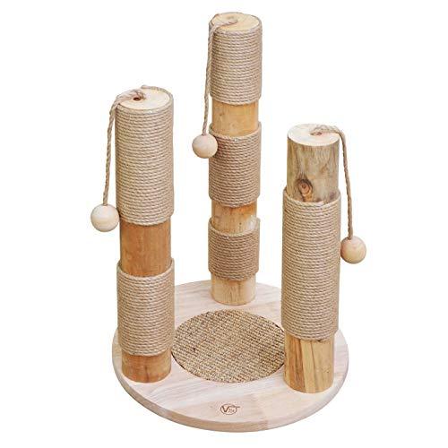 VOSS.PET Kratzbaum Kaiser beige, natürliche Materialien Premium Kiefernholz, Katzenbaum Katzenspielbaum Katzenkratzbaum Kratzmöbel