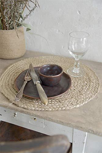 Jeanne d agnoarc Living placemat 4 stuks jute set onderzetters placemat jute set van 4 tafelkleed natuur Ø 35 cm poster 750743 (4)