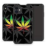 Handyhülle Hippie für iPhone Apple Silikon MMM Berlin Grass Käfer Bulli Weed Canabis Marihuana Hanf, Hüllendesign:Design 4 | Silikon Schwarz, Kompatibel mit Handy:Apple iPhone 11 Pro Max