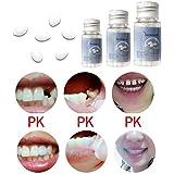 Pegamento para dentaduras postizas, Kit de reparación de Huecos temporales, Adhesivo de Vampiro, Herramienta de Pegamento sólido para dentaduras postizas, Kit Blanco Beige, Dientes cosméticos