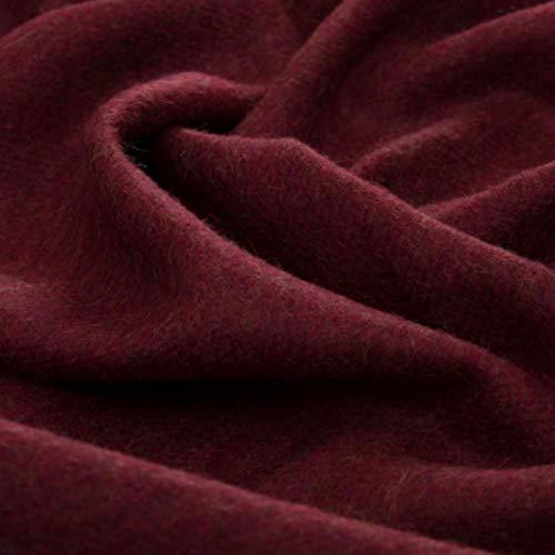 Lorenzo Cana Luxus Alpakadecke aus 100% Alpaka - Wolle vom Babyalpaka flauschig weich Decke Wohndecke Sofadecke Tagesdecke Kuscheldecke rotbraun 96081