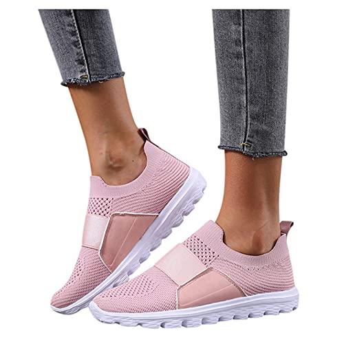 Dasongff Zapatillas de deporte para mujer, antideslizantes, transpirables, de malla, suela con perfil, ligeras, cómodas, para el tiempo libre, antideslizantes, para el aire libre