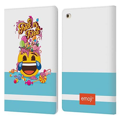 Head Case Designs Oficial Emoji Truco o Trato Halloween Carcasa de Cuero Tipo Libro Compatible con Apple iPad Mini 4