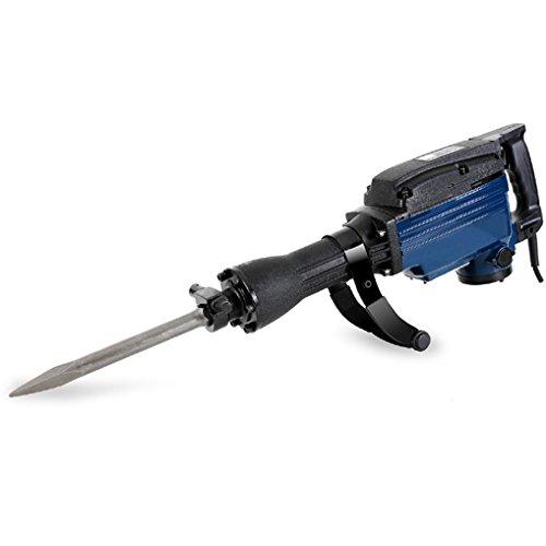 EBERTH 1600 Watt Abbruchhammer (230V, 1800 Schläge/Min, 36-42 Joule, 30 mm SDS Sechskantaufnahme. 1x Zusatzhandgriff, 1x Transportkoffer)