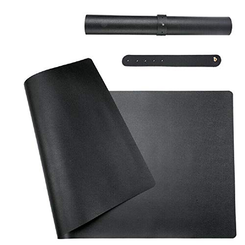 Grotere non-slip PU lederen bureau beschermer mat toetsenbord muis laptop pad multifunctionele office bureau pad, Zwart