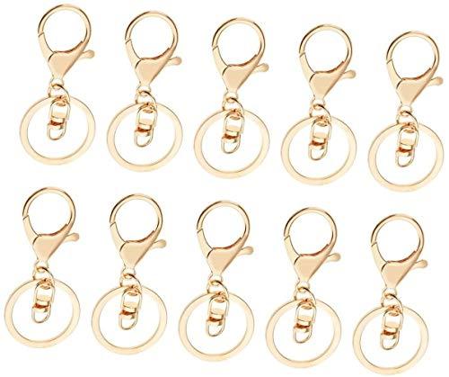 onbekend metalen trekker zwenkbare clip kreeft gesp klap haak sleutelhanger sleutelhanger sleutelhanger ambachten goud 10 stuks