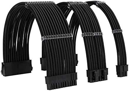 FormulaMod Sleeve Extension Power Supply Cable Kit 18AWG ATX 24P EPS 8 P PCI E8 P with Combs product image