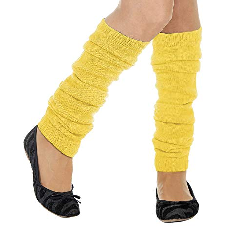 Stulpen Beinwärmer, unifarben gelb