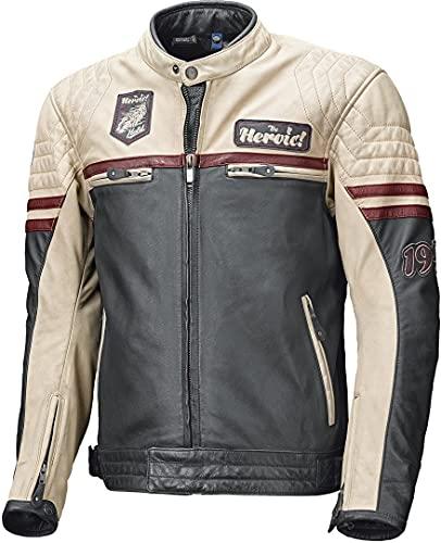 Held Motorradjacke mit Protektoren Motorrad Jacke Baker Lederjacke blau/beige/Burgund 58, Herren, Chopper/Cruiser, Sommer