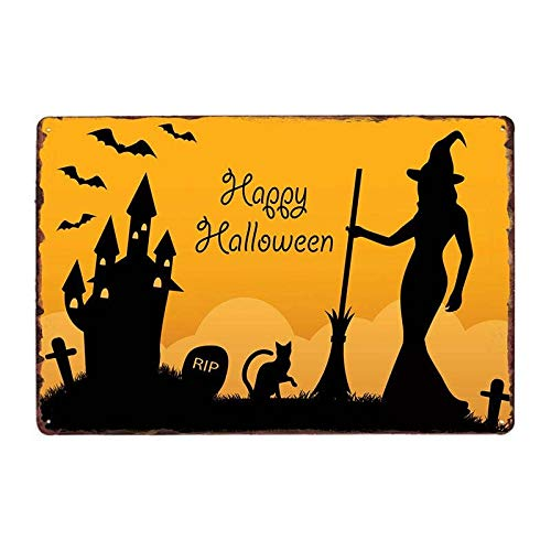Ami0707 Plaque Vintage Halloween Party Metal Tin Sign Vintage Pub Metal Plate Poster Wall Decor For Bar Pub Club Shop Decorative Plates Iron Painting 20x30cm 63082