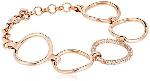 ESPRIT Glamour Damen-Armreif ES-PERIBESS ROSE teilvergoldet Zirkonia transparent 20 cm - ESBR01858C180