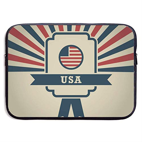 American (2) Laptop Bag Business Briefcase Computer Package Laptop Case Laptop Messenger Bag for Women and Men