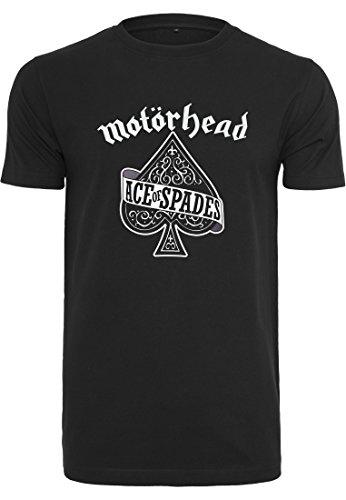MERCHCODE Herren Motörhead Ace of Spades Tee T-Shirt, Black, XL
