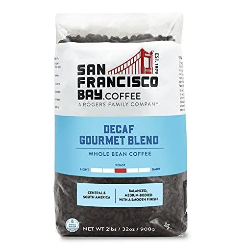 SF Bay Coffee DECAF Gourmet Blend Whole Bean 2LB (32 Ounce) Medium Roast Swiss Water Processed Decaffeinated