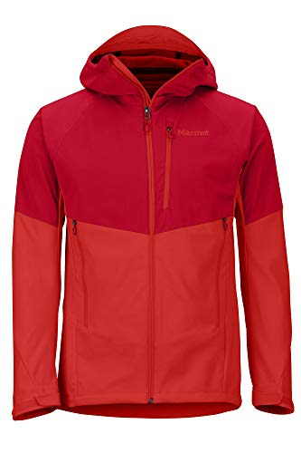 Marmot Herren Softshelljacke, Funktions Outdoor Jacke, Wasserabweisend ROM Jacket, Team Red/Victory Red, XL, 81800