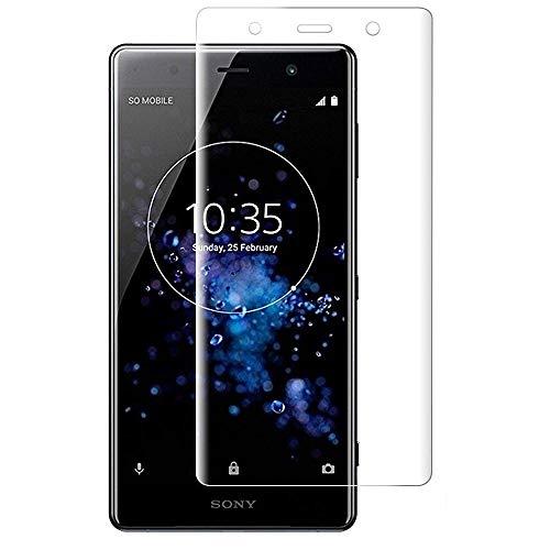 For Sony Xperia XZ2 Premium ガラスフィルム Sony エクスペリア XZ2 Premium au SOV38 docomo SO-04K 強化ガラス 9h硬度 飛散防止 高度感タッチ 耐衝撃 高透過率 3D曲面保護 防指紋 スクラッチ防止