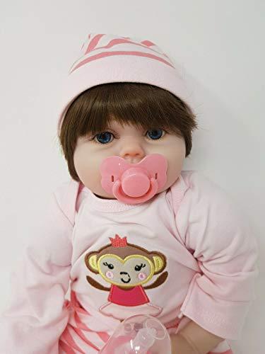 SAMMAR GIFTS Muñeca de vinilo suave de 55,88 cm Kiss Me Baby Girl Reborn para dormir (muñeca de cuerpo suave con peso de 1,81 kg)