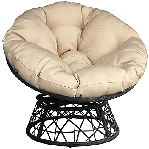 HYCy Furniture Fluffy Round Chair Cushion,Not Included Chair,Oversized Comfortable Seat Pad,Garden Hammock Swing Seat Bed,For Indoor Balcony Outdoor Patio Yard Creamy