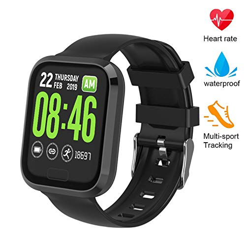 beitony Fitness Tracker, Smart Bracele Smart Watch Waterproof Pedometer Activity Tracker with Heart Rate Monitor, Blood Pressure Blood Oxygen Monitor for Men, Women and Kids (Black)