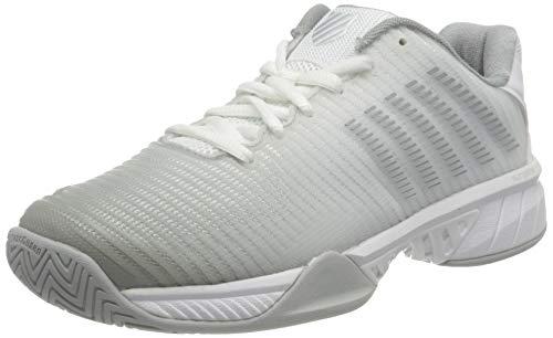 K-Swiss Hypercourt Express 2 Tennisschuh für Damen, High-Rise/Silber, 6,5, Zapatillas de Tenis Mujer, Weiß Hochris Silver, 37.5 EU