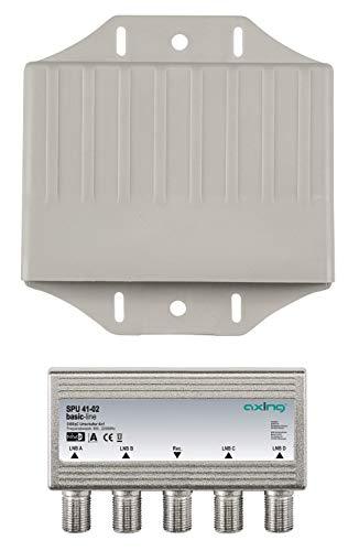 Axing SPU 41-02 Sat Umschalter 4 in 1 DiSEqC mit Wetterschutz