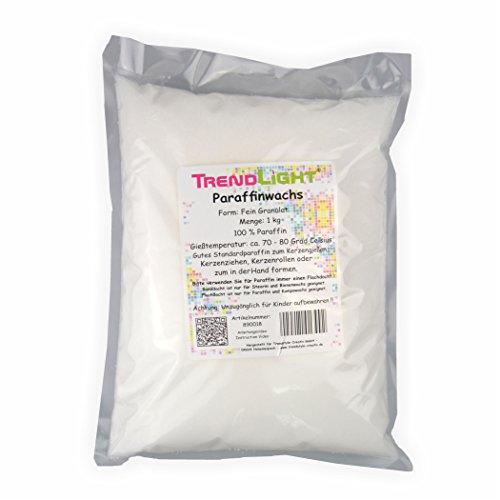 TrendLight 8900181kg de Cera de Vela de parafina Pura Blanco para Hacer...