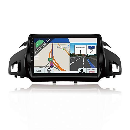 JOYX Android 10 Autoradio Passt für Ford Kuga (2013-2018) - Rückfahrkamera Canbus KOSTENLOS - [2G+32G] - 9 Zoll 2 Din - Unterstützen DAB Lenkradsteuerung 4G WiFi Bluetooth5.0 Carplay IPS Android Auto