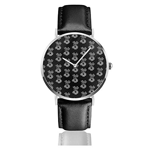 Adorable Mini Schnauzer Dog Armbanduhr Benutzerdefinierte personalisierte Bild Unisex Sport Lederarmband Uhr Quarzuhren Herren Damen Armbanduhr
