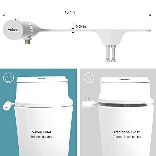 Veken Ultra Slim Bidet Toilet Seat Attachment Vk539 Deals