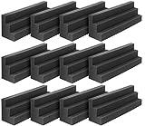 DEKIRU 12 Pack Acoustic Bass Traps Panels, 12 X 3 X 3 Inch Wedge Tiles Corner Wall SoundProofing Studio Foam Padding, Idea for Studio or Home Theater Sound Dampening Treatment (Black)
