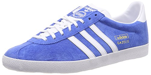 adidas Herren Gazelle OG Sneakers, Blau (Air Force Blue/White/Metallic Gold), 47 1/3 EU