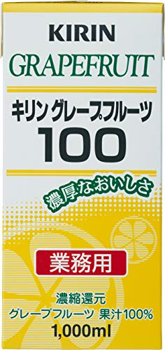 【業務用】キリン グレープフルーツ100 1L紙パック×6本入