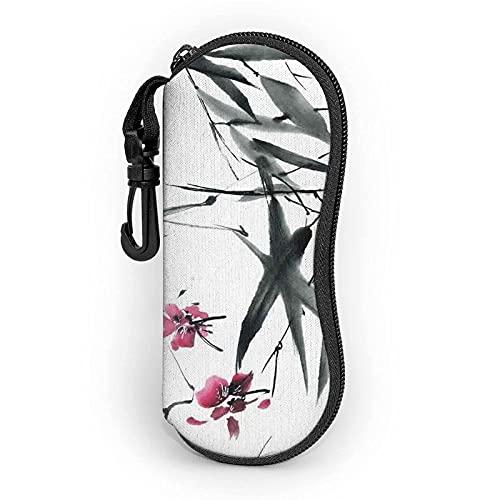 lymknumb Bamboo Stems Cherry Blossom - Funda para gafas de sol (neopreno, ultraligera, con cremallera)