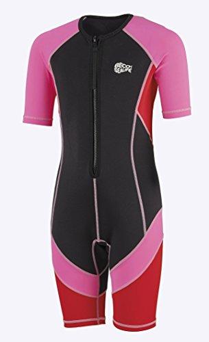 Beco Mädchen Sealife Kinder Schwimmanzug, Neoprenanzug, Shorty mit UV Schutz, pink, 140