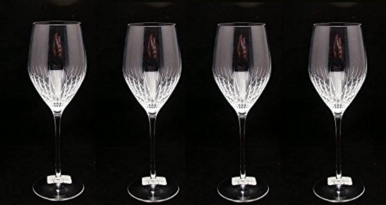 悪質な統合する割り当てKate Spade by Lenox?–?セットof 4?–?Mercerストライプゴブレット( Largeワイングラス