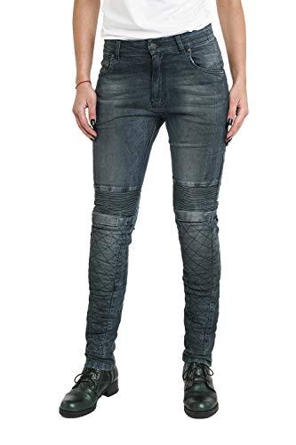 Pando Moto Rosie Navy Women's Cordura Motorcycle Jeans with Kevlar Lining CE Approved Slim Fit Motorbike Trousers Ladies