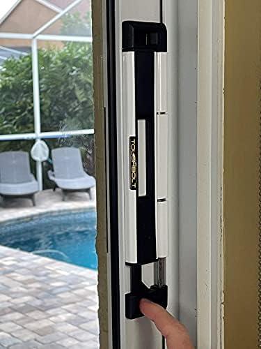 Double glass door lock